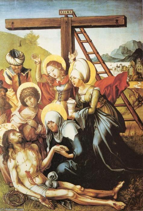 'Beweinung Christi', 1497 von Albrecht Durer (1471-1528, Germany)