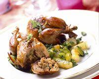 Cailles farcies sauce foie gras