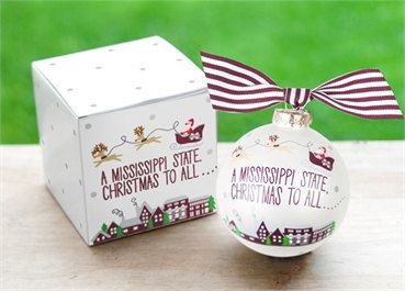 Santa Over Mississippi State Ornament