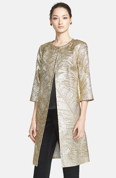 St. John Collection Metallic Jacquard Topper available at #Nordstrom