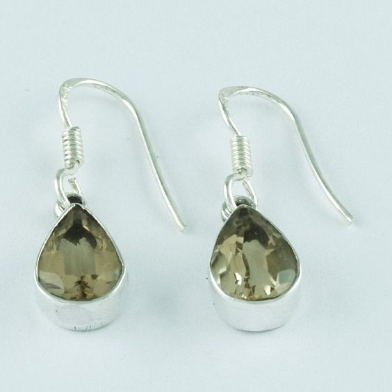 CITRINE STONE UNIQUE DESIGN HIGH QUALITY 925 STERLING SILVER EARRINGS #SilvexImagesIndiaPvtLtd #DropDangle