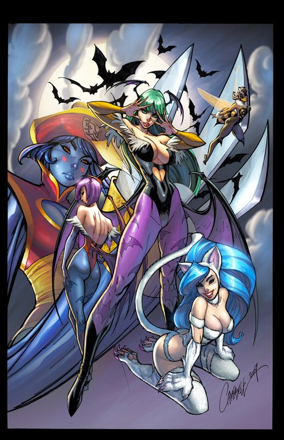 Darkstalkers tribute JSC by ~Eldelgado and J Scott CAmpbell