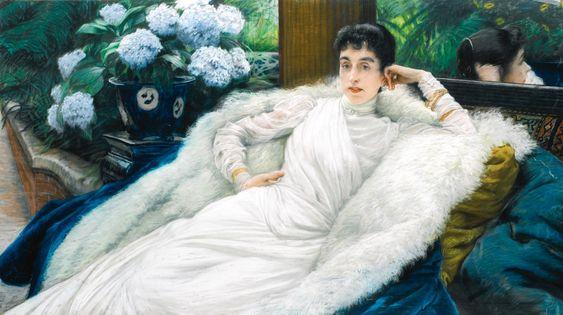 James Jacques-Joseph Tissot (1836-1906) Portrait of Clotilde Briatte, Comtesse Pillet-Will