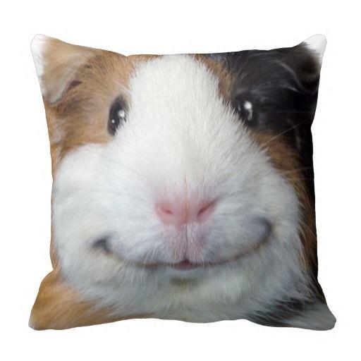 Smiling Guinea Pig Throw Pillow