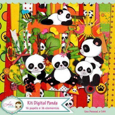 Kit Digital Panda by Lu Arteira - R$12,50 : Boutique do Scrap