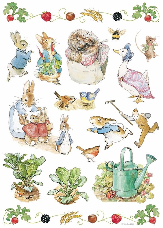 Beatrix potter wall decals pinterest search decals for Beatrix potter mural
