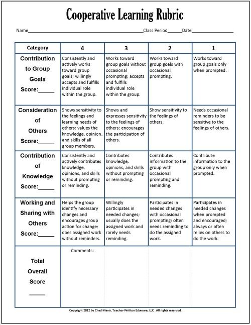 Collaborative Learning Classroom Management ~ Cooperative learning free pdf assessment instruments