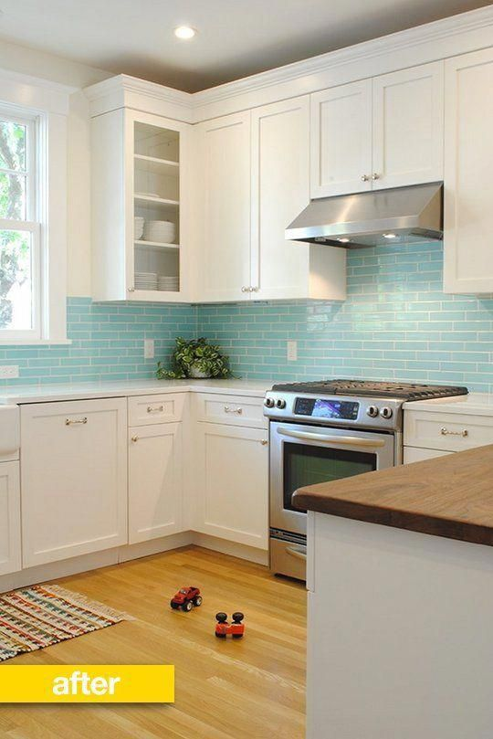 The Blue Tile Kitchen Before After A 1970s Kitchen Gets A Jaw Dropping Overhaul Reader Kitchen Remodel Kitchen Renovation Kitchen Design 1970s Kitchen