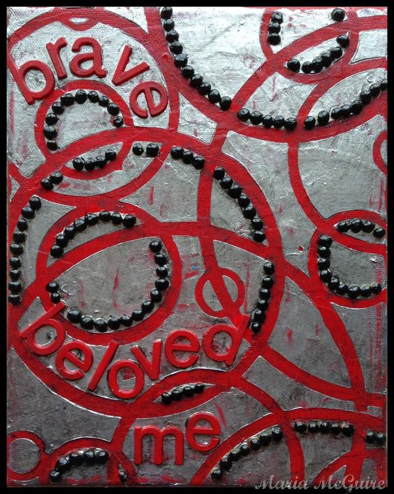 Believe Dream Create with Maria: StencilGirl NEW Release Blog Hop Featuring Michelle Ward. Canvas using a stencil.
