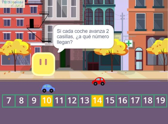 ¿En qué número se cruzarán los coches?