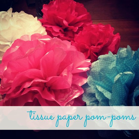 Easy to make Tissue paper Pom-Pom Tutorial