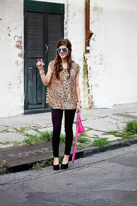 Joie cheetah print top