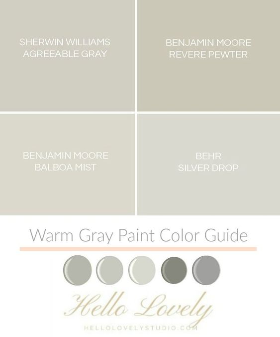 Warm gray paint color guide on Hello Lovely Studio.