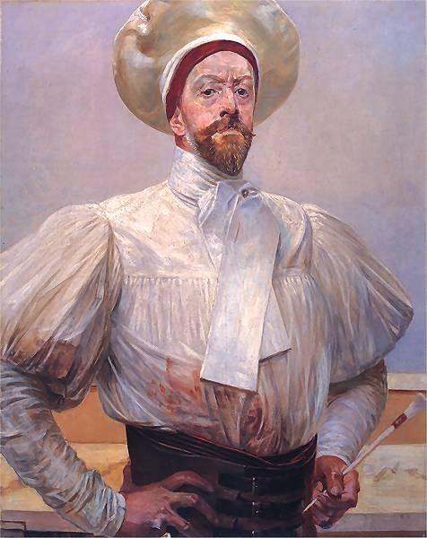 malczewski: Autoportret w bialym