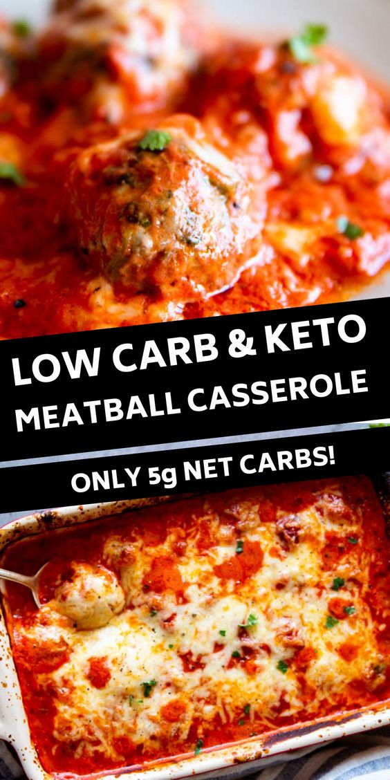 Low Carb Meatball Casserole Recipe