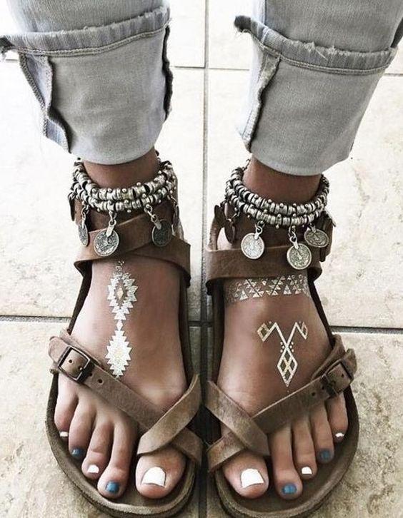 Boho Style Sandals                                                                             Source