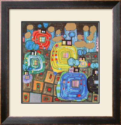 Pavilions and Bungalows for Natives and Foreigners Posters por Friedensreich Hundertwasser