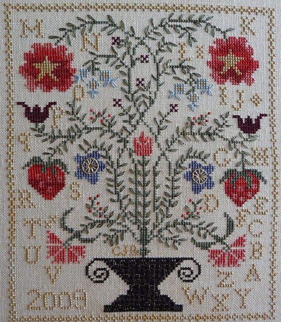 Best ideas about garden sampler garden cross and cross for Blackbird designs strawberry garden