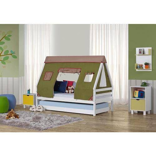 Foto 1 Bicama Infantil Prime Com Telhado Cabana Verde Casatema