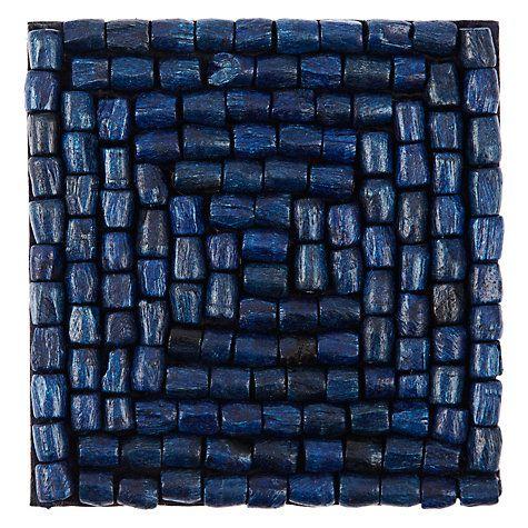 Buy John Lewis Al Fresco Bead Coaster, Blue Online at johnlewis.com