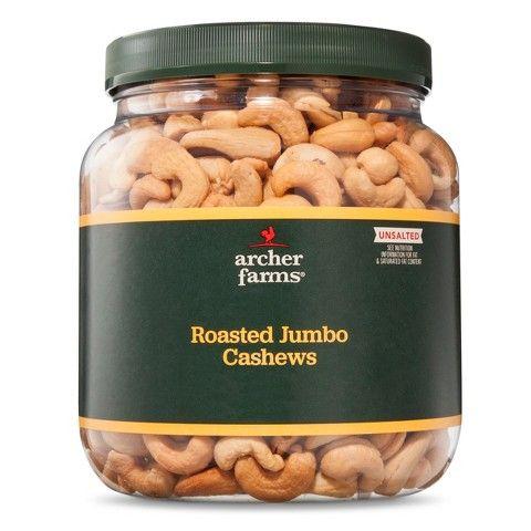 Archer Farms Unsalted Roasted Jumbo Cashews 30 oz