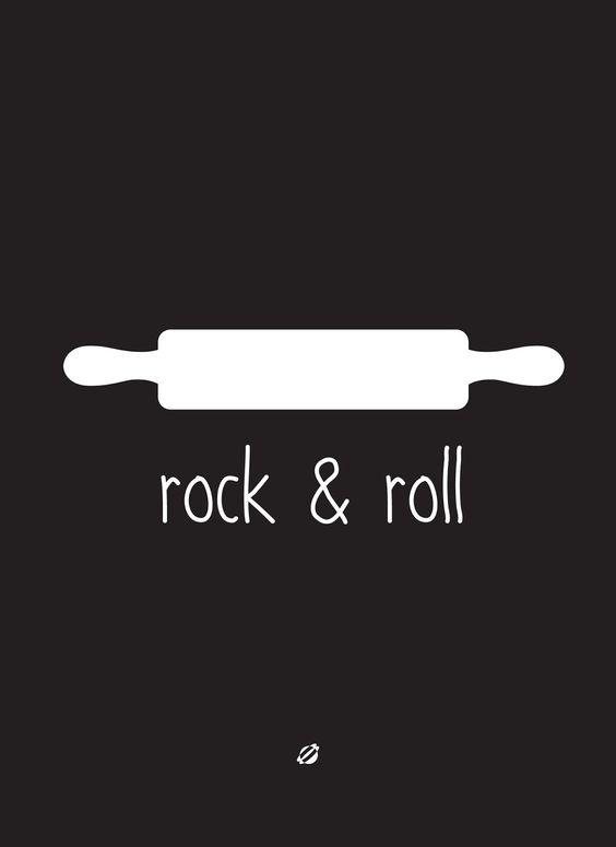 Post decorativo para imprimir decorar cozinha rock & roll