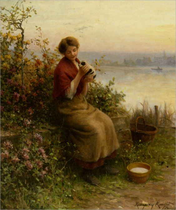 Knight_Daniel_Ridgway_A_New_Puppy_1912