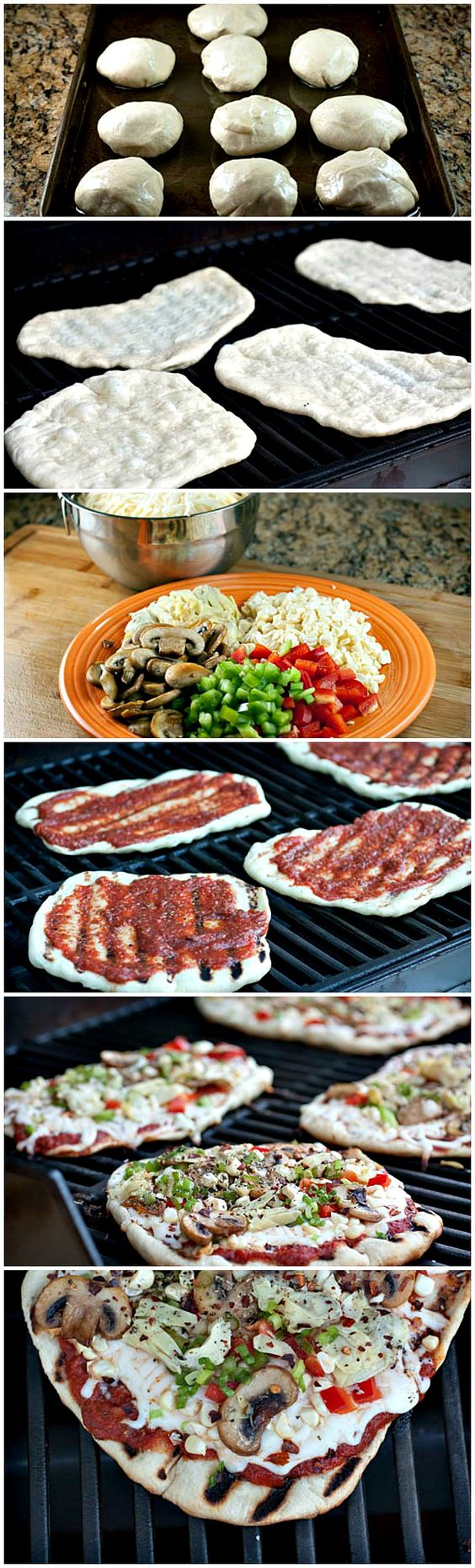Mini Grilled Pizzas // fabulous way to set up a diy pizza bar, perfect for every day and parties #summer #foodbar