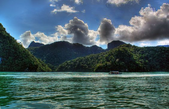 Pregnant Lady Island, Langkawi, Malaysia is just one of the 100 islands in the archipelago of Langkawi in the Andaman Sea