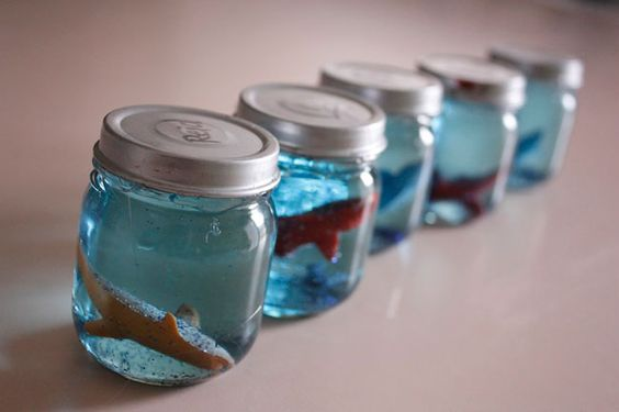 Click on the image to find out how to make your own sea snow globe aquarium!