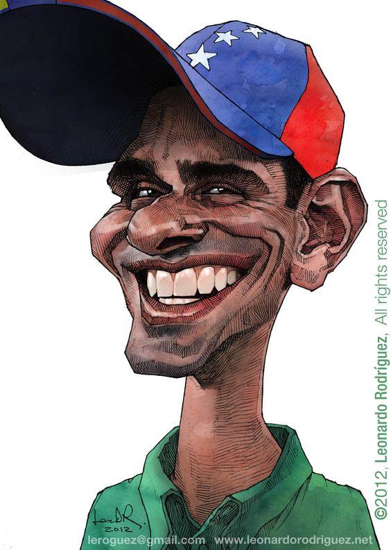 Henrique Capriles ( candidato presidencial, elecciones venezolanas 7 Octubre próximo ) BY: Leonardo Rodriguez Nota: Y SI!!, me mojo hasta el cuello. Generalmente cuando hago caricaturas de políticos me burlo pero en este caso no...espero que sea presidente electo ahora en Octubre...y luego si lo hago...;)