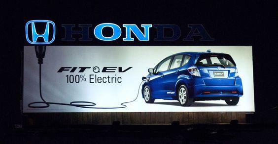 jaymug:    Honda Fit EV: Plug Billboard