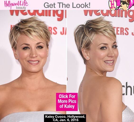 kaley cuoco cute punky hairstyle at wedding ringer premiere make up hochzeit und filme. Black Bedroom Furniture Sets. Home Design Ideas