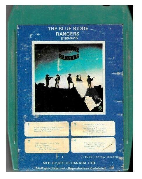Blue Ridge Rangers The The Blue Ridge Rangers Fantasy 8160 9415 8 Track Tape April 1973 John Fogerty Blue Ridge Ranger 8 Track Tapes