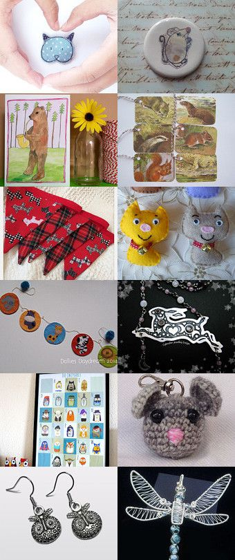 All Creatures Great and Small by Debi Holland on Etsy--featuring my animal gift tags