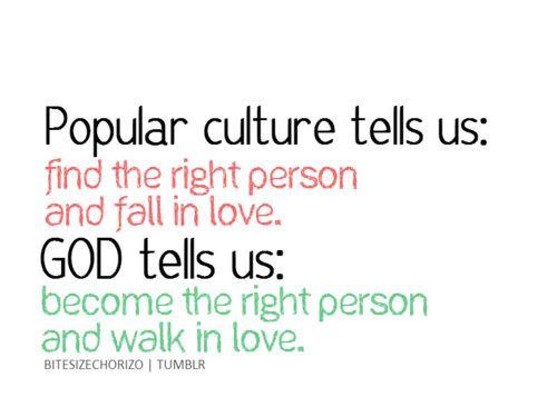 Love: Pop Culture vs. God: