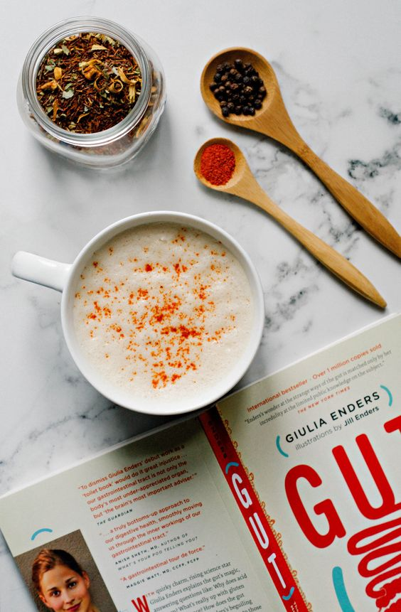 Honey + Ginger + Black Pepper Spiced Rooibos Tea Latte: