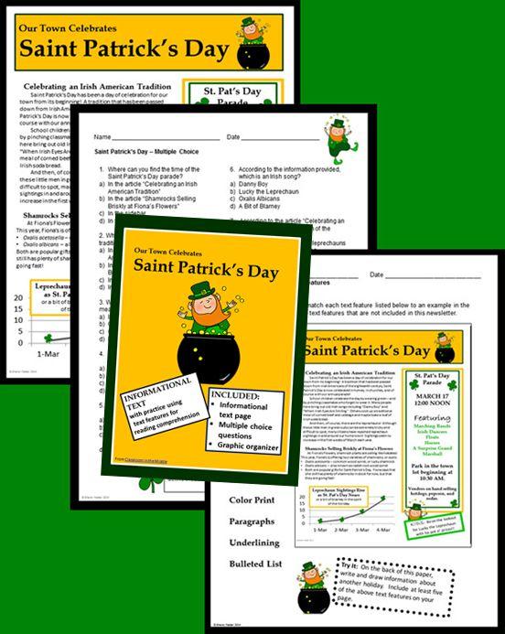 Informational Text - Saint Patrick's Day | Saint patrick's ...