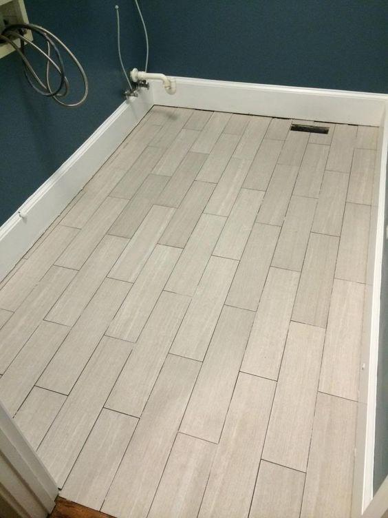 Finally A Floor Part 2 Herringbone Laundry Room Tile