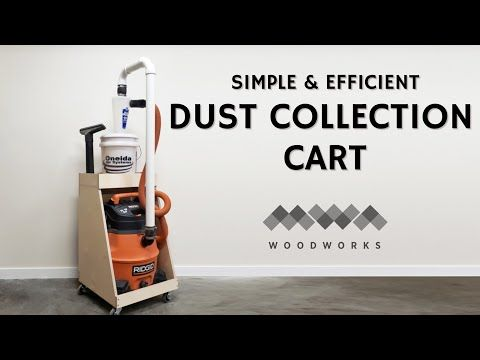 Dust Cyclone Cart Dust Collection Shop Dust Collection Dust Collector Diy