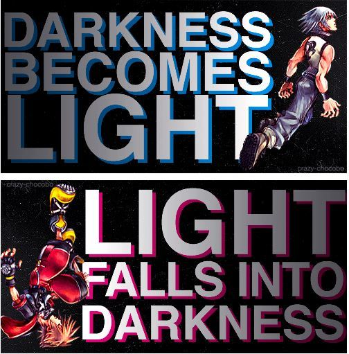 Darkness becomes light...light falls into darkness.