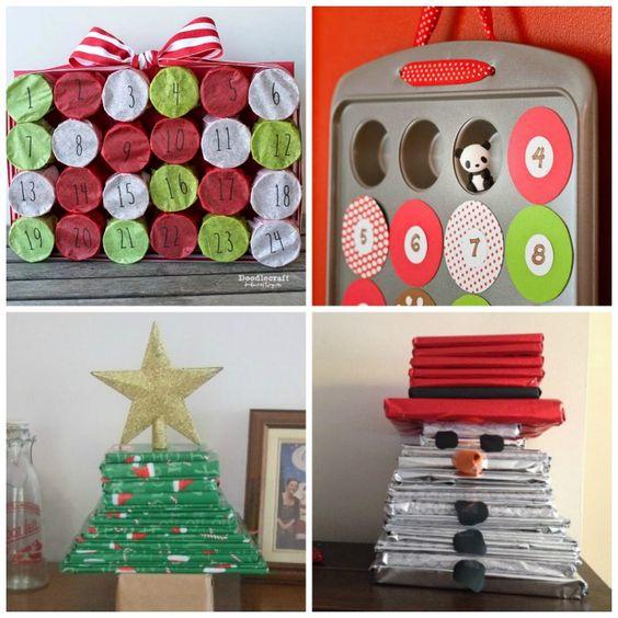 Increíble bricolaje Calendario de Adviento para los niños-estos son tan divertido !!