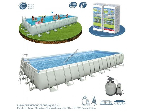 Buenos d as amigos sab is que intex fabrica piscinas for Piscinas desmontables rectangulares intex
