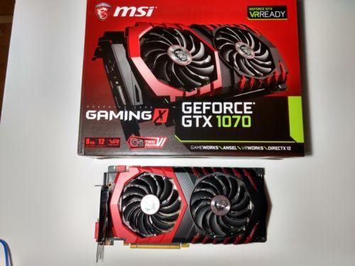 Msi Geforce Gtx 1070 Directx 12 Gtx Gaming 8gb Video Card Box Gently Used Graphic Card Video Card Card Box