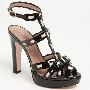 Valentino RED - Sandal - Black - 40% DISCOUNT