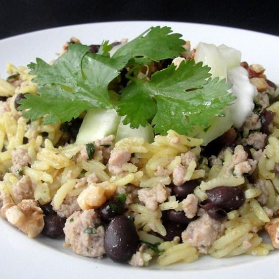 "Middle Eastern Rice with Black Beans and Chickpeas | ""This recipe was ..."