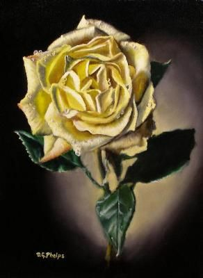 How to paint paint flowers and the o 39 jays on pinterest for How to paint a rose step by step