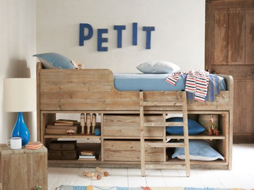 The Clamberdoodle kids bed is the coolest cabin bed out there! It has a chalkboard at the end and has lots of handy storage to scurry away bits & pieces.