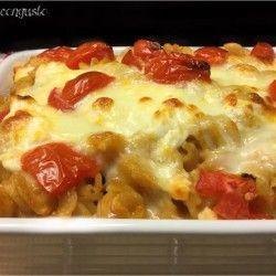 Pasta pasticciata con mozzarella e pomodorini
