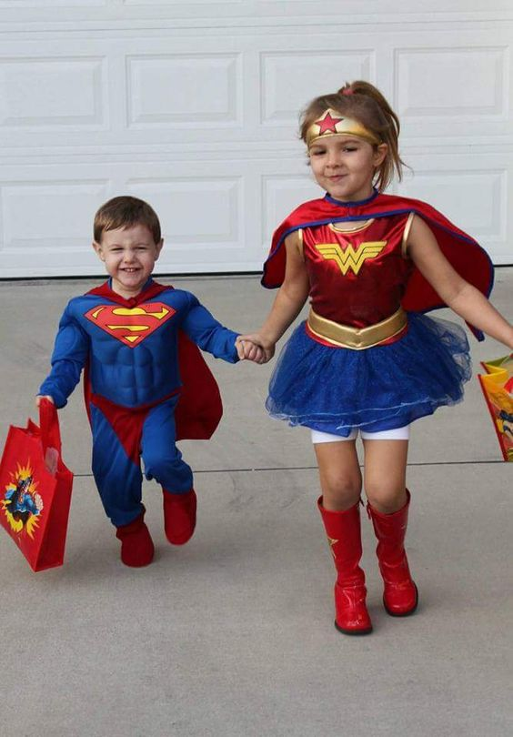 Brother & Sister Superheroes Halloween costumes ♥ Dani & Cash 2013